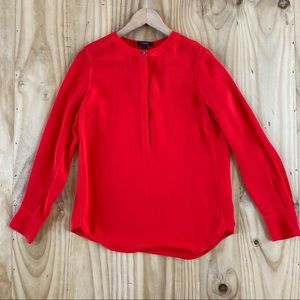 J. Crew Red Blouse